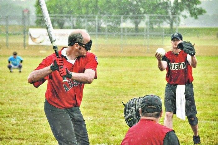 Image showing a member of the Austin Blackhawks batting.