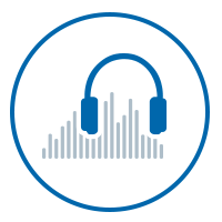 Image of the Braille Works audio icon
