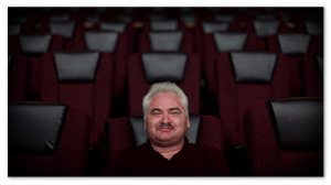 Jay Forry sitting in a movie theater