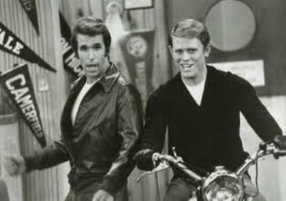 Fonzie and Richie Cunningham from Happy Days