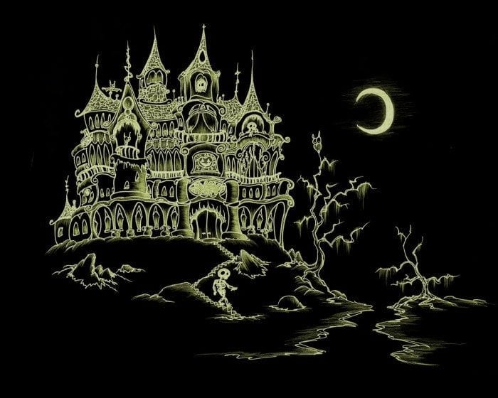 Image of a spooky Halloween castle