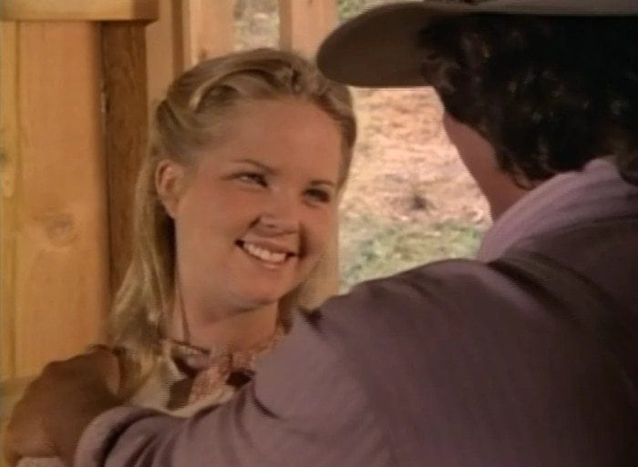 Mary Ingalls during a scene of Little House on the Prairie