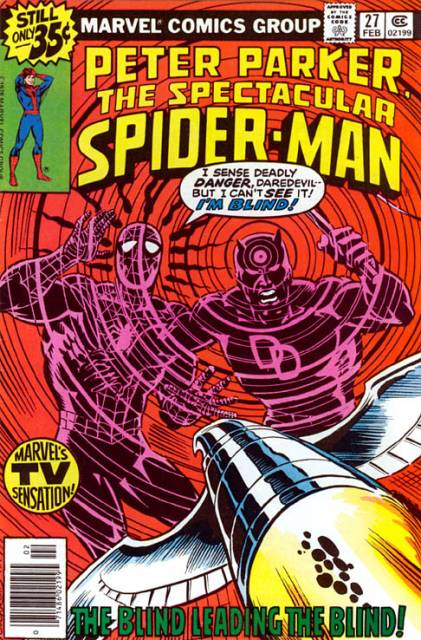 Cover of the Spectacular Spider Man #27 comic book