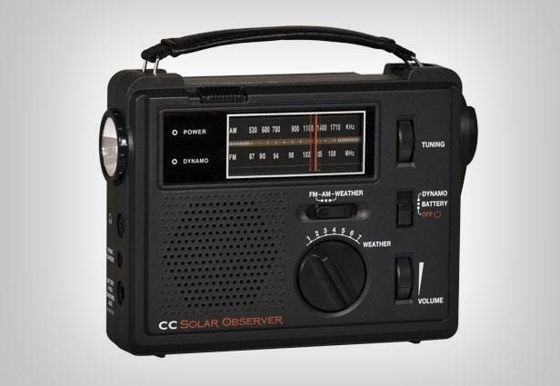 A small wind-up emergency radio