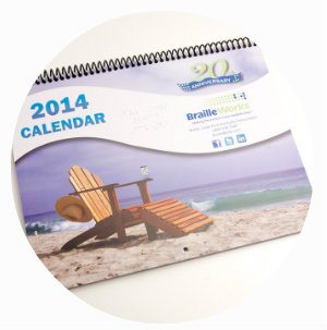 Image of the 2014 Braille Works Calendar