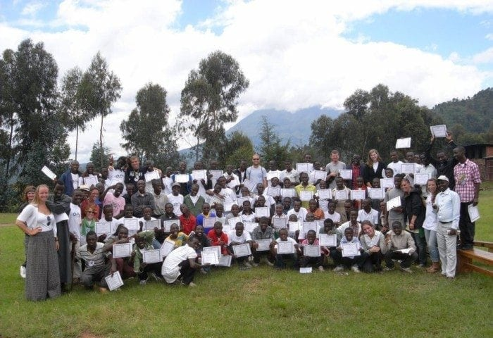 "Image showing a group photo of Camp ""Boys Excelling"" attendees."