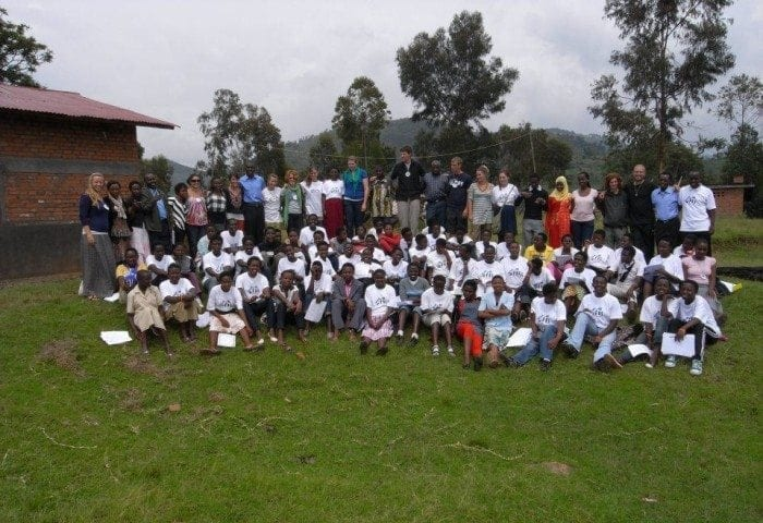 "Image showing a group photo of Camp ""Girls Leading Our World"" attendees."