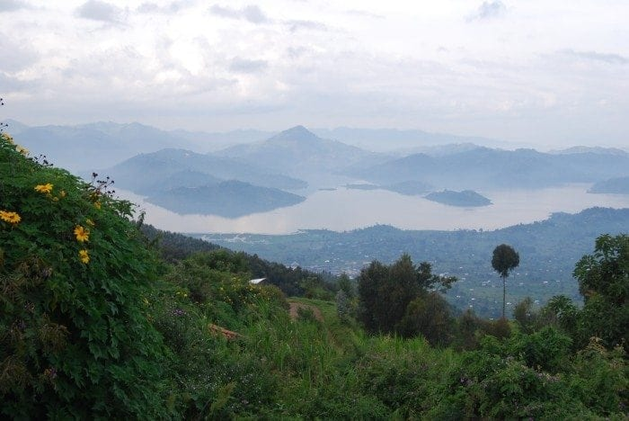 Image showing Lake Burera in the distance.