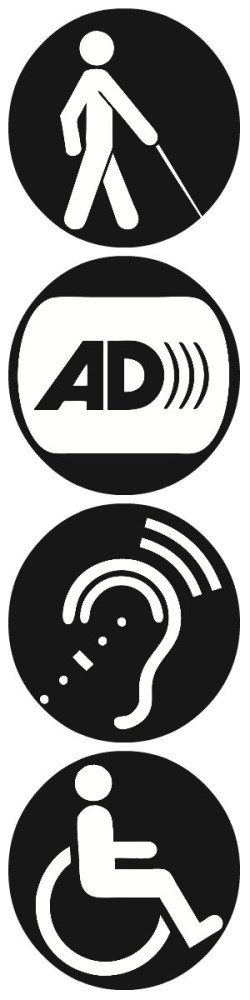 "Image showing four circular ""disability-related"" icons."