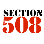 "Image showing the words ""Section 508"" in a graphical font"