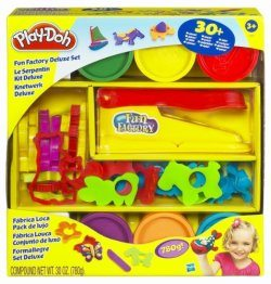 Image showing the Play-Doh Fun Factory playset by Hasbro in its package