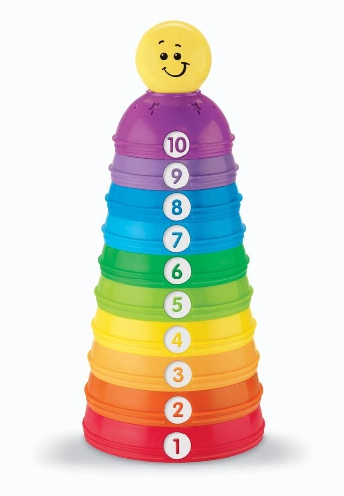 Image of the Brilliant Basics Stack and Roll Cups by Fisher-Price