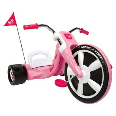 Image of a pink colored Big Flyer bike by Radio Flyer