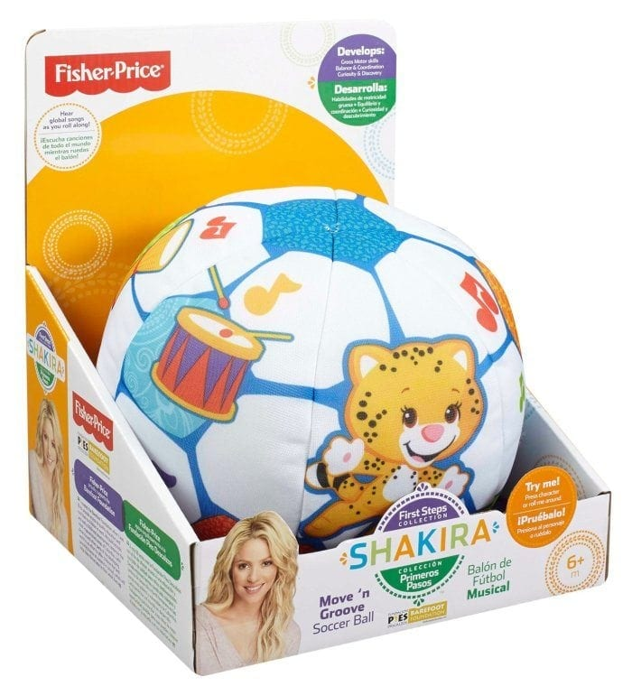 Image of the Shakira First Steps Collection Move 'n Groove Soccer Ball in its package