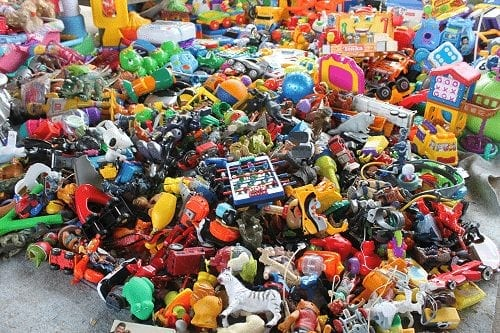 Image showing a very big pile of vintage toys