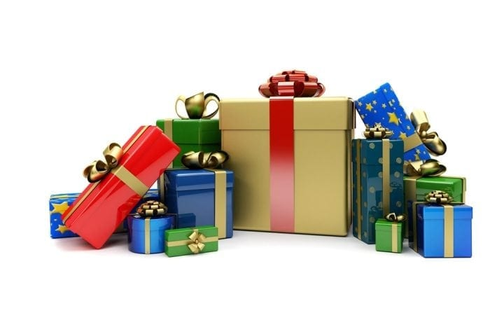 Graphical Image Showing A Pile Of Nicely Wrapped Christmas Gifts
