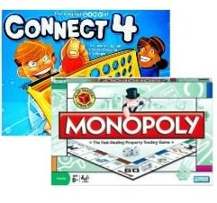 Image showing Monopoly and Connect Four boardgames by Hasbro