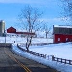 Image showing a beautiful snow-covered farm scene.