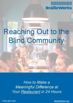 Screenshot showing Reaching Out to the Blind Community cover page.