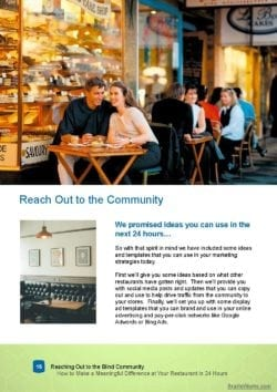 Screenshot of Reach Out to the Community.