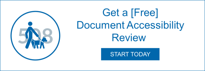 Get a Free Document Accessibility Review, Start Today