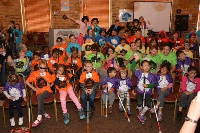 2014 Florida Braille Challenge participants.