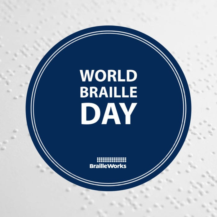 World Braille Day and Braille Works logo