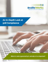 "Preview of eBook titled ""An In-Depth Look at 508 Compliance"""
