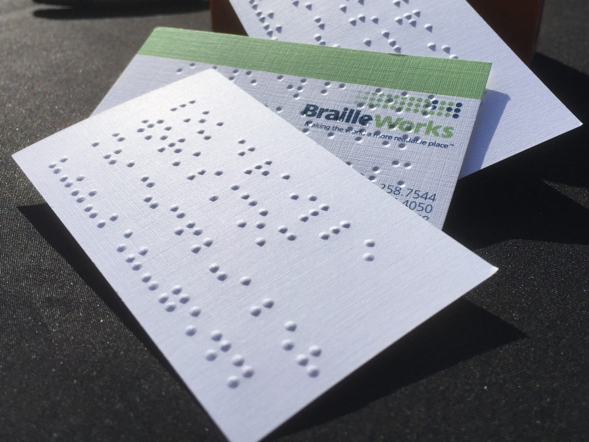 Braille Works Braille Business Cards
