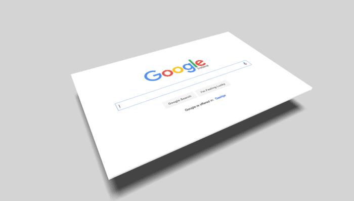 Blank Google search bar ready for you to type in WCAG accessibility questions