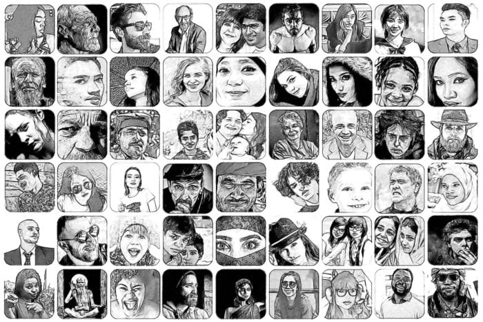 collage of people's faces